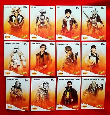 Denny's 2018 Star Wars Solo - Complete Set - Mint Condition.