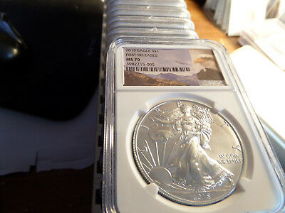 (10 coins avialiable) 2015 ngc ms 70 first release  american silver eagle
