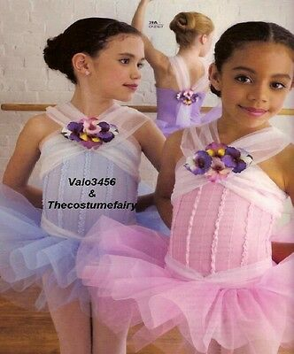Blooming Beauty Dance Costume ORCHID Ballet Tutu w/Flowers Clearance Adult Large