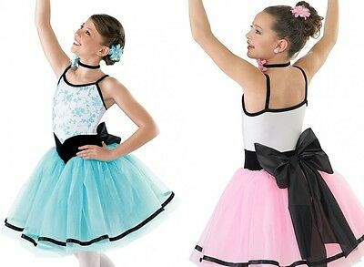 Grande Tarantella Dance Costume BLUE Romantic Ballet Tutu Adult Large New