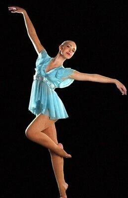 Hope and Praise Dance Costume Lyrical Babydoll Top With Hot Shorts Adult Medium