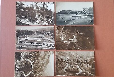 RPPC Philippine Islands 6 Vintage Postcards Benguet Road to Baguio City Luzon
