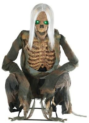 Crouching Bones Life-Sized Animated Prop Halloween Haunted House Decoration