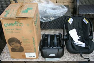 New Evenflo Embrace Lx Infant Car Seat And Base Black 4 35Lbs Rear Facing