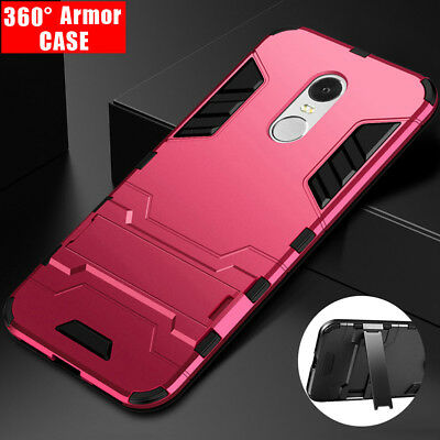360° Armor Back Case Stand Phone Cover For Xiaomi Redmi 5 Plus MI 8 SE MAX MIX 2