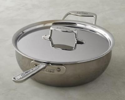 All-Clad Stainless Steel 4 Quart Saute Pan with Lid