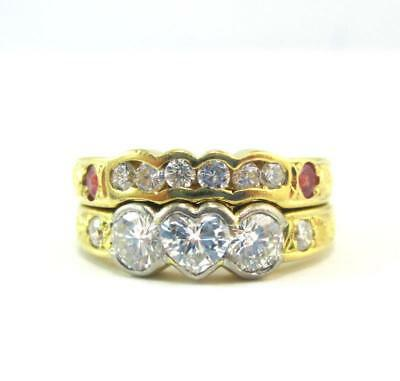 18ct White & Yellow Gold 0.98 Carat Diamond Ring with $5,140 Valuation Size K1/2