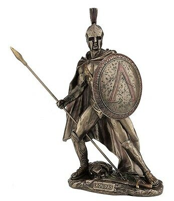 "10.5"" Leonidas Greek Warrior King Statue Sculpture Figurine Spartan Decor"