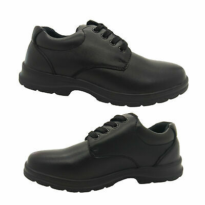 Boys Shoes Grosby Educate Jnr School Leather Shoe Laceup Dual Insole Size 13-5