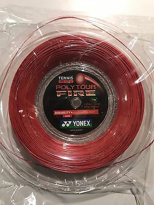 YONEX POLY TOUR FIRE 125 TENNIS RACKET STRING - 200m REEL MADE IN JAPAN PTF125
