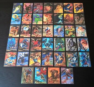 1995 Fleer-Ultra Spider-Man Gold Foil Signature Lot of 39 Cards - Marvel N Mint