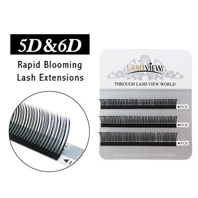 Lashview Rapid Blooming Volume Eyelash Extensions Individual Lashes 3 lines