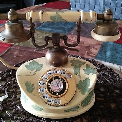 Antique Rotary Phone French Style Vintage Old Fashioned Princess Telephone Retro