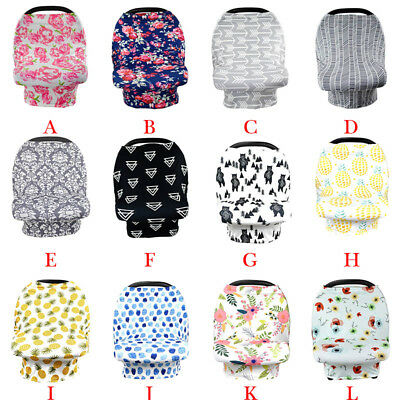 4in1 Breastfeeding Baby Car Seat Canopy Cover Nursing Scarf Cover Up Apron Shawl