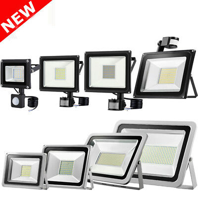 Projecteur LED 10/20/30/50/100W PIR Sensor Motion Security Flood Light Warm Cool