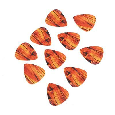 10x Guitar Picks Pick Plectrum Durable Plastic Thin Light 0.38mm Thickness