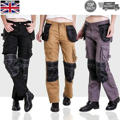 Womens Work Trousers Cordura Knee Working Pant Cargo Combat Worker Safety Pocket
