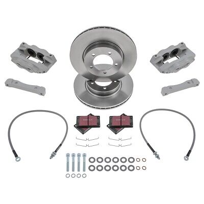 Jaguar E Type S2 Brake Kit Silver Front 4 Pot Fosseway Performance Vented discs