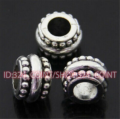jewellery making supplies Art & Craft Supplies P430 10pc Tibetan Silver Charm Flowers String Spacer Beads accessories wholesale