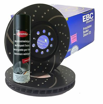 EBC Turbo Groove Disco Black Dischi Freno 323x28mm Aj per Seat Leon R GD1338