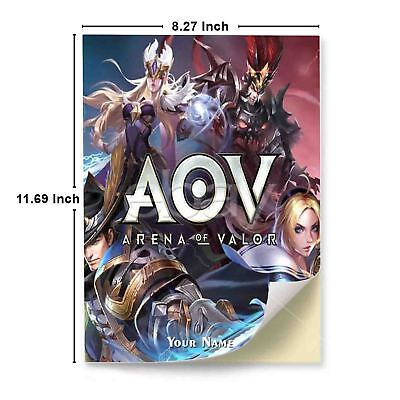 24cc727ce Arena of Valor AOV A4 Glossy Stickers Wall Sticker Decals Laptop Car Art  Print