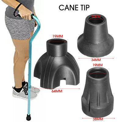 Walking Stick End Tripod Cane Tip Self Standing Rubber Non-Slip Bottom Replace