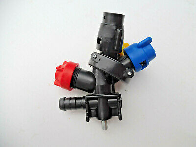 3 x Crop Sprayer Quadruple Nozzles For Tractor Mounted Sprayer : END Units
