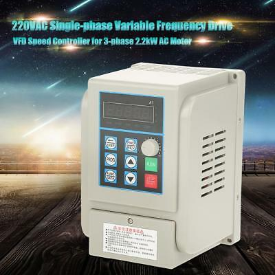 AC220V Single-phase Variable Frequency Drive Speed Controller 2.2kW Motor VFD el