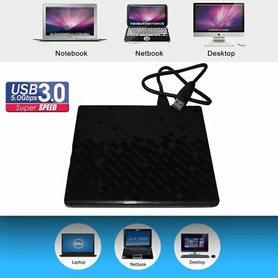 USB Extern 3.0 CD-RW DVD±RW Brenner Slim Laufwerk Portable Brenner Notebook LK