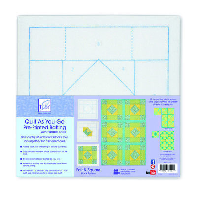 Quilt As You Go Pre-Printed Fusible Batting 6 Pack | Fair and Square | JT1402