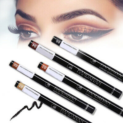 4 Head Tip Fourchette Microblading Sourcils Tattoo Pen Crayon Waterproof 5Colors