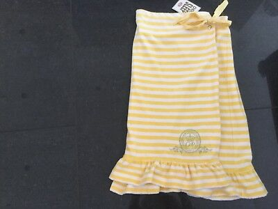 NWT Juicy Couture New & Gen. Ladies Yellow Striped Cotton Spa Wrap Size Small