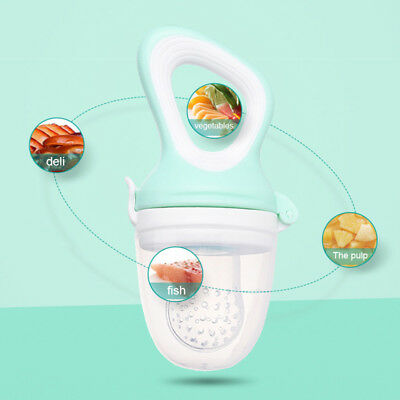 Baby Feeding Pacifier Fresh Fruit Food Feeder Soother Infant Bite Nipple USA