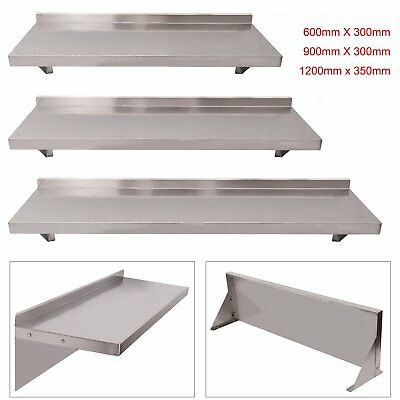 Commercial Catering Stainless Steel Shelves Kitchen Wall Shelf 600 - 1200mm BT