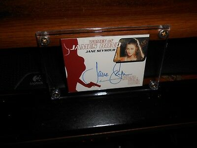 007 Live And Let Die Autograph Card Jane Seymour As Solitaire New Free Shipping!