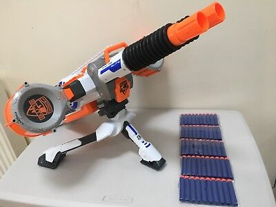 Nerf N-Strike Elite Rhino Fire Automatic Machine Gun + Tripod,50 Darts Batteries