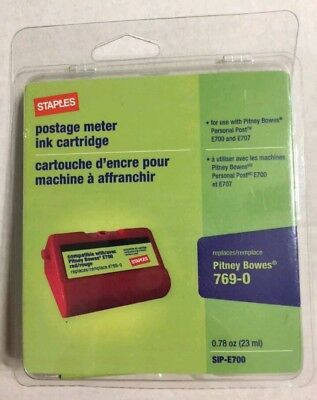 Staples E700 Postage Meter Ink Cartridge for Pitney Bowes E700 and G700 Series M