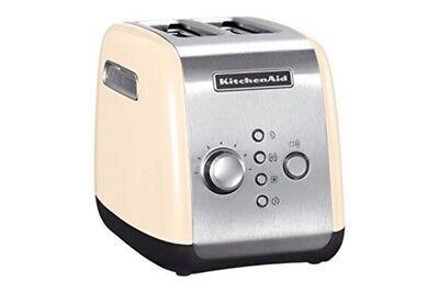 KitchenAid 5KMT221BAC 2 Slice Toaster Almond Cream New