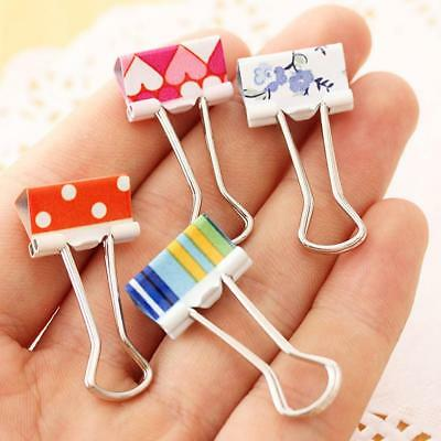 24pcs 19mm Mini Colorful Metal Paper Clips Binder File Clip School Office suppl