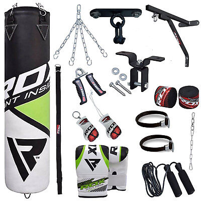 RDX Punching Bag Boxing Free Standing Chains Mitts Gloves Training MMA AU