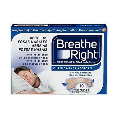 Breathe Right 10 Tiras Nasales Clásicas Medianas