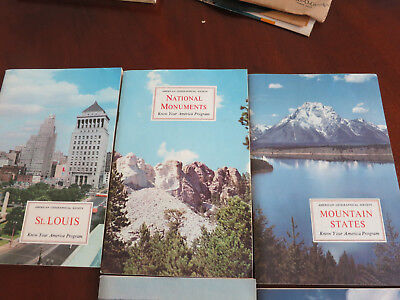 VTG 1958 American Geographical Society: KNOW YOUR AMERICA PROGRAM 5 BOOK SET