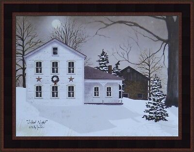 Art Print BJ442 O Holy Night Plaque By Billy Jacobs Framed