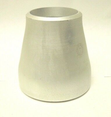 "1-1/2"" x 1"" S/40 Concentric Reducer BW Aluminum 6061-T6 Pipe Fitting AL04080601"