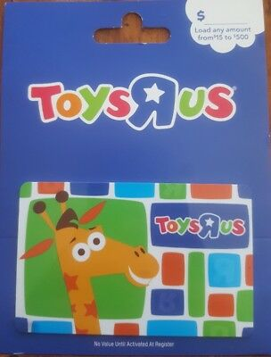 toys r us gift card no value memorabilia gag gift new 2 different types