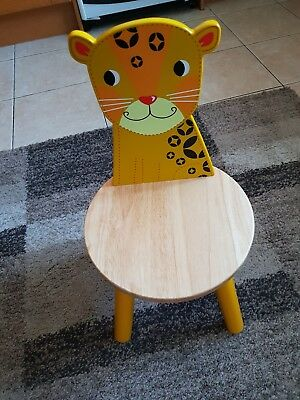 Tidlo John Crane wood Leopard Chair 26 cm Used once