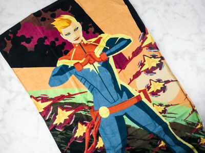 "Loot Crate Gear Lootcrate Captain Marvel Beach Towel 56x27"" Disney"