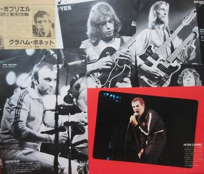 Genesis Phil Collins Peter Gabriel Yes Steve Howe 1981 Clipping Japan U1 D7 6P