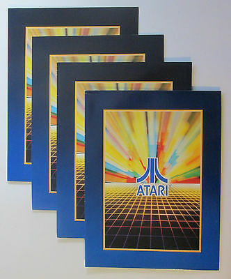 Lot of 4 Atari Logo Folders vtg 1982 Coin Division Promotional Arcade Games NOS