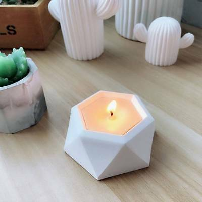 Diamond Shape Flower Pot Concrete Silicone Mold DIY Candle Holder Mould Tool
